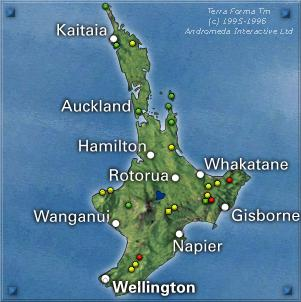 Neuseeland Nordinsel Karte.Neuseeland Entdecken Karte Wanderungen Nordinsel Neuseeland