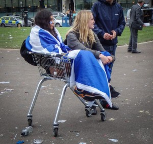 Glasgow - George Square - Trauriges Ende