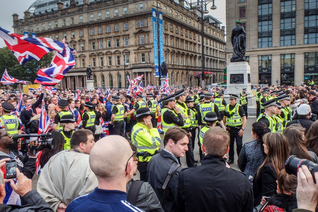 Glasgow - George Square - Demonstration